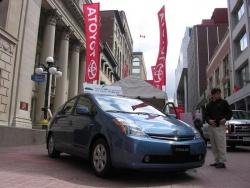 Toyota Prius at the Toyota Hybrid Tour display on Ottawa's Sparks Street