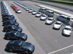The Porsche Sport Driving School's fleet