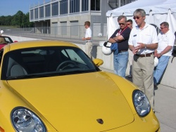 Kees Nierop goes over the finer points of the Cayman for the assembled journalists