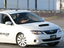Subaru Impreza on the course