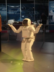 Honda's ASIMO robot at the Canadian Grand Prix