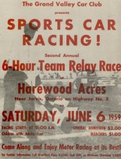 Poster for a typical 1950s race in Canada; Harewood Acres. Collection: Paul Williams