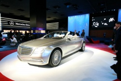 The Mercedes-Benz Ocean Drive concept, displayed at Benz' icy booth