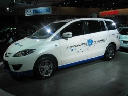 Mazda5 gas/hydrogen hybrid