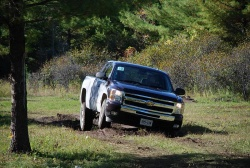 2008 Chevrolet Silverado 1500 Ext. Cab 4WD on the off-road course