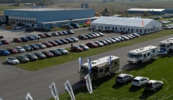 Aerial view of the Testfest site, at the Niagara District Airport