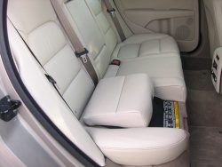 Volvo integrated booster seat in a 2008 XC70 in lower position