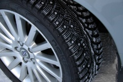 Studded Nokian Hakkapalita tires