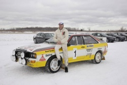John Buffum drives the Mouton/Pons Audi Quattro rally car