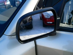 The GL includes breakaway power heated mirrors