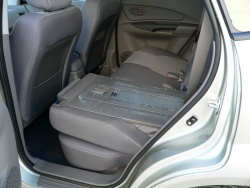 Rear seats fold flat and can be reclined individually