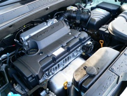 The Tucson's 2.0-litre four-cylinder engine