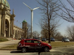 The Vibe near the windmill at Exhibition Place - photo courtesy General Motors and Flickr