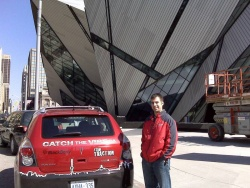 Chris and the Vibe in front of the Royal Ontario Museum - photo courtesy General Motors and Flickr