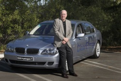 J.D. Power founder Dave Power III with the BMW Hydrogen 7