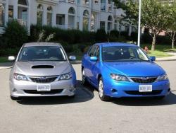 2008 WRX (left) and Impreza