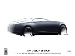 Rolls-Royce Motor Cars has revealed the first design sketches of its new model, known as the RR4, which is due to be launched in 2010.