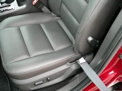 Front power seats with two-step heat