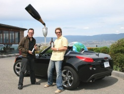 2008 Solstice GXP; Gary Craig (left) and Peter Bleakney, at Summerhill Pyramid Winery, Kelowna, B.C.