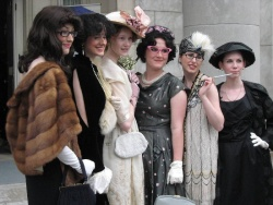 Parkwood volunteers were dressed as characters spanning the decades
