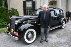 Bob Ward's 1937 McLaughlin Buick limousine was built in Oshawa