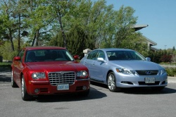 Feature: HEMI versus Hybrid Challenge   Chrysler 300C vs Lexus GS 450h car comparisons