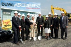 The DUVALAUTO Group has broken ground for a new Mercedes-Benz and Smart dealership that will open this fall in Boucherville, a suburb of Montreal.
