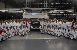 Honda has announced that its automobile production and sales subsidiary in Brazil, Honda Automoveis do Brasil Ltda. (HAB), reached a cumulative production milestone of 500,000 units on June 18.