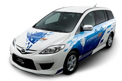 Mazda Motor Corporation has received permission from Japan's Ministry of Land Infrastructure and Transport to test its Mazda Premacy Hydrogen RE Hybrid minivan on public roads.