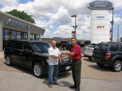 The first customers in Canada to drive the all-new Ford Flex, built at the company\'s Oakville Assembly Complex in Ontario, received their vehicles this week.