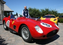 Bruce McCaw with his 1959 250 TR59 race car