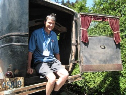 Lee Smith of Wilsonville Ontario bought his 1927 McLaughlin hearse from someone who traded a load of scrap metal for it after it was pulled from a gravel pit