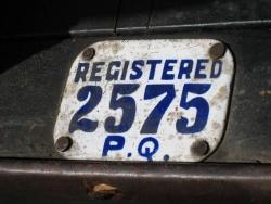 An original plate on Richard Fraser's 1910 Model 8 suggests it was originally sold in Quebec