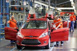 Ford Fiesta on the production line