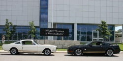 1966 (left) and 2007 Shelby Hertz Mustangs