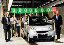 Smart has built its one-millionth Fortwo at a time when the company is celebrating the tenth anniversary of the Fortwo.
