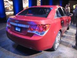 The Cruze's size slots it between the Aveo and Malibu