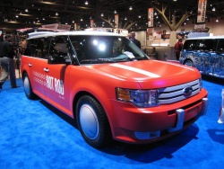 The Ford Flex was a common sight at the show