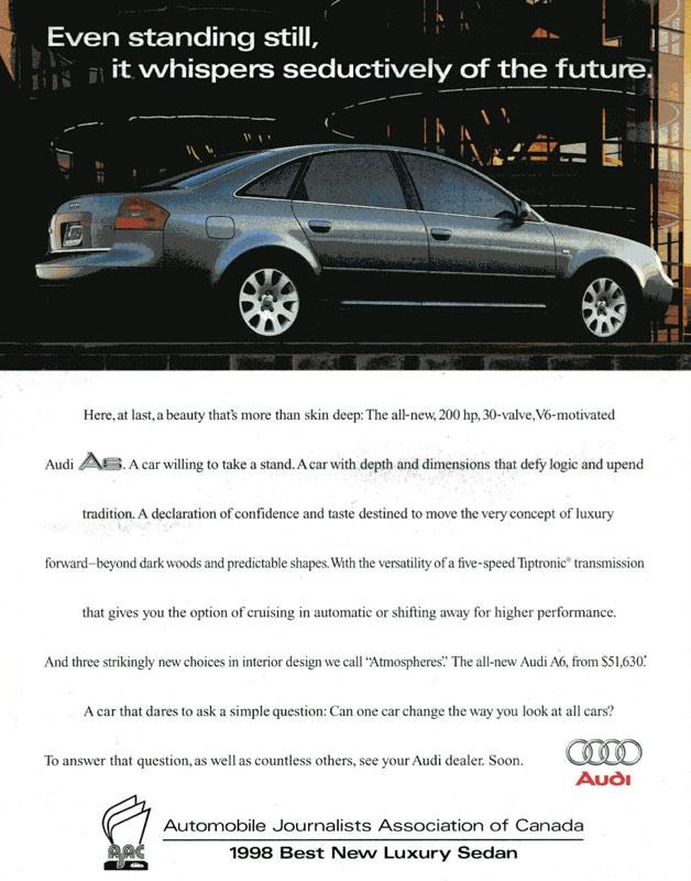 1998 Audi A6 advertisement