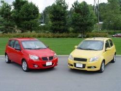2009 Pontiac G3 Wave and 2009 Chevrolet Aveo5