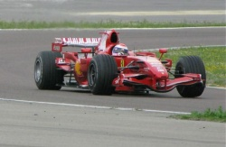 Gene puts in a few hot laps at Fiorano in his Ferrari F1 car