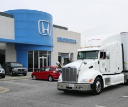 American Honda Motor has become the first company in the industry to introduce a Class 8 hybrid diesel-electric truck into its delivery fleet.