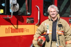 Toronto Fire Captain Mark Bardgett; photo by Jil McIntosh
