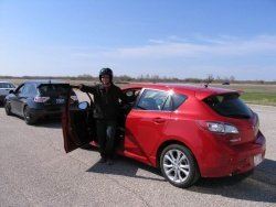The author with his 2010 Mazda3 Sport GT test car