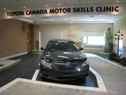 The donated Camry, inside the clinic