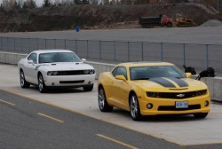2010 Chevrolet Camaro SS and 2009 Dodge Challenger R/T