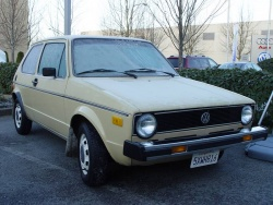 The oldest known VW diesel in North America, a 1977 VW Rabbit Diesel was located in Techachapi, California.  It had 48 horsepower and got 52 m.p.g. on the highway.