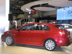 Athletes help Mitsubishi introduce new Lancer Sportback 2009montreal