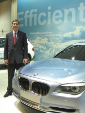Tom Baloga, BMW of North America VP, Engineering, with BMW 7 Active Hybrid concept