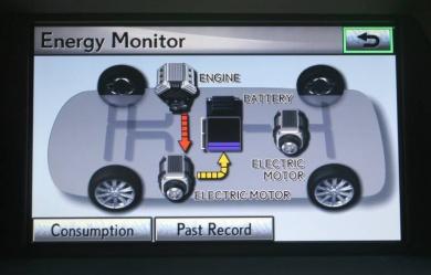 Lexus RX hybrid system